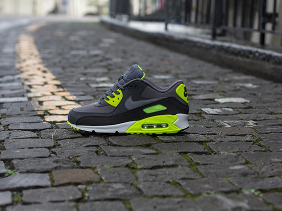 sports shoes 514bc d009d Nike Air Max 90 Essential Dark Grey Cool Grey-Anthracite-Volt 537384-007.  Advertisement