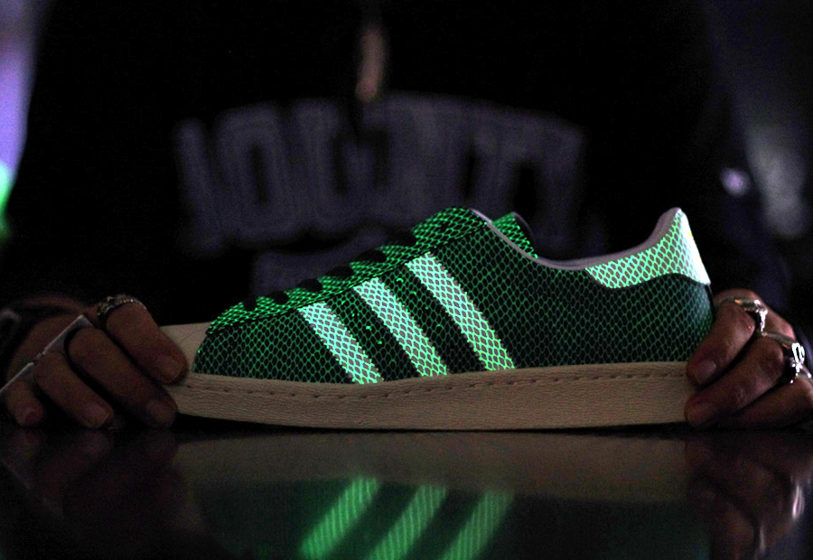 "official photos c11b5 6e114 atmos x adidas Originals Superstar 80s ""Glow Snake"""
