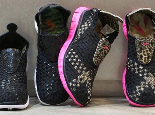 "atmos x Nike Free Woven 4.0 ""Animal Camo Pack"""