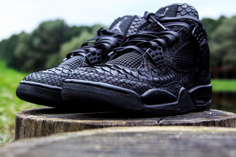 Nike Air Jordan 4 Python Noir Tri Personnalisé