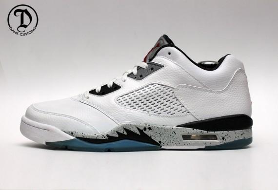 "ea11d3784040d Air Jordan 5 Low ""White Cement"" by Dank Customs. Advertisement. Nike LeBron  ..."