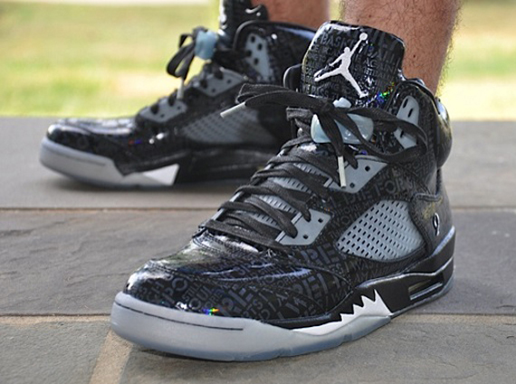 "Doernbecher 5 Glow In The Dark On Feet Air Jordan 5 ""Doe..."