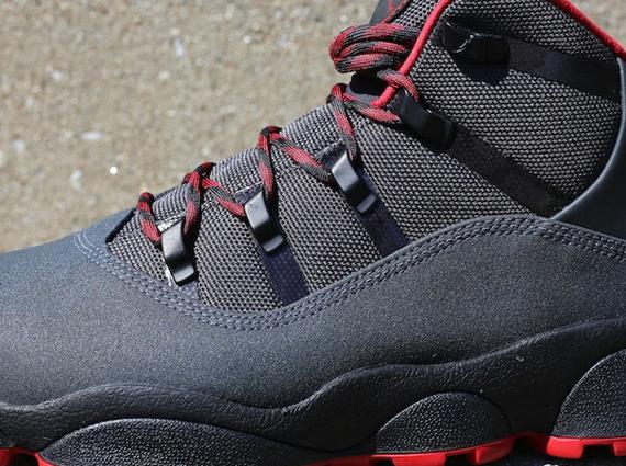 Jordan Winterized 6 Rings - Anthracite - Gym Red - Black ...