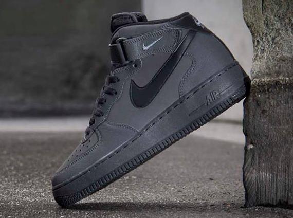 new product 90fec 91c42 ... new zealand nike air force 1 mid dark charcoal black sneakernews 4ab2e  5887b