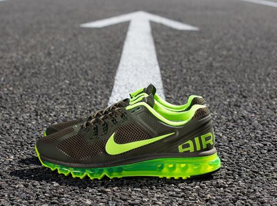 premium selection 0f727 df6ea Nike Air Max+ 2013 – Dark Loden – Volt