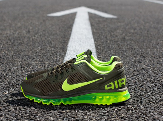 d9ed28ee84a Nike Air Max+ 2013 - Dark Loden - Volt - SneakerNews.com