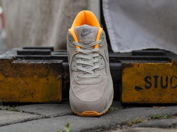 Nike Air Max 90 - Gris Pálido - Naranja Láser pW8WsGD30Y