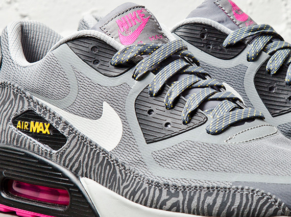 Nike Air Max 90 Premium Tape Grey Laser Orange Pink Zebra