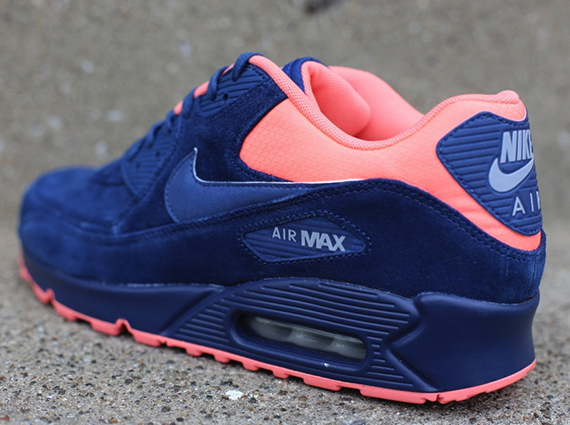 Nike Air Max 90 Premium Color Brave BlueAtomic Pink Style Code  333888-446. Source Oneness