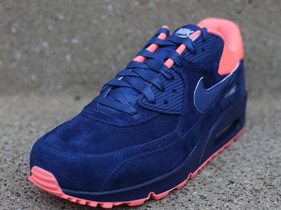 Nike Air Max 90 Premium Brave Blue Atomic Pink