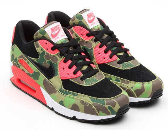 9789b90ae5 Nike Air Max 90 Premium Color: Black/Black-Chlorophyll-Infrared Style Code:  333888-025. Advertisement