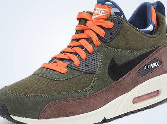 new products 5ea4a 2a069 ... GreenOrange Black The Nike Air Max 90 Sneakerboot has already been one  of the more well received remixes ...