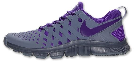 Nike Formateur Gratuit 5.0 Gris Et Violet