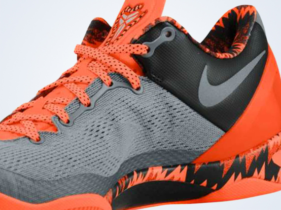 premium selection 0e51c eee12 Nike Kobe 8 – Cool Grey – Metallic Silver – Team Orange   Available