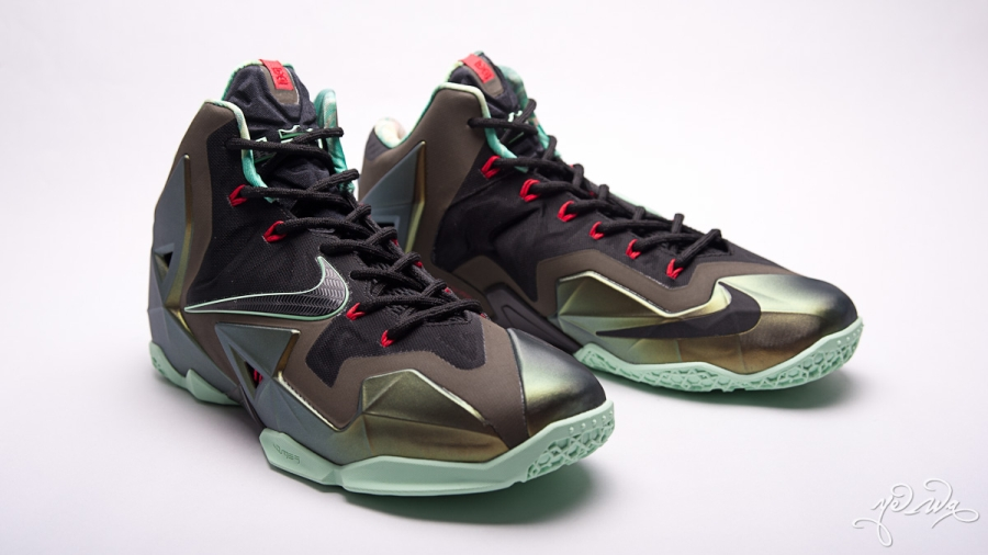 a4295aa701d2 Nike LeBron 11. Color  Parachute Gold Arctic Green-Dark  Loden-Black-University Red Style Code  616175-700. Release Date  10 12 13.  Price   200