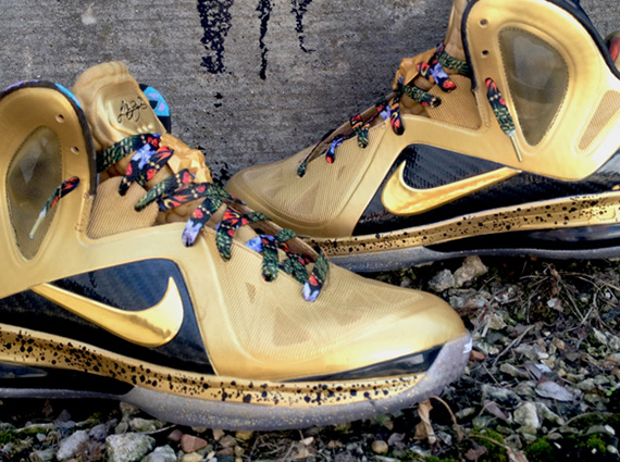 "huge selection of 1c713 6bd2e Nike LeBron 9 Elite ""Un-Watch The Throne"" by DeJesus Customs. September 10  ..."