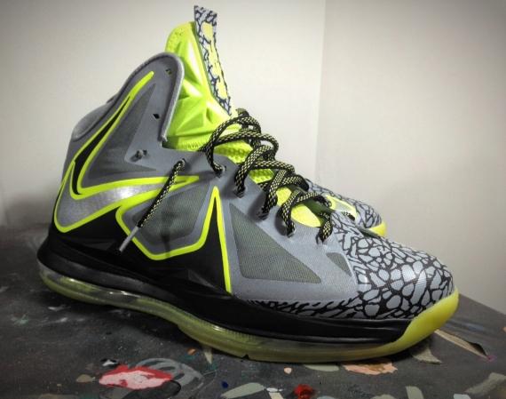 "28c2c17e00e14 Air Jordan 5 Low ""White Cement"" by Dank Customs. Advertisement. Nike LeBron  X ""112″ by Mache Customs"