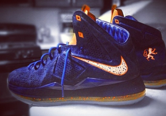 "Nike LeBron X EXT ""Hardwood Classic"" by Mache Customs"