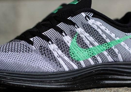 Nike WMNS Flyknit Lunar1+ – White – Green Glow – Dark Grey – Black
