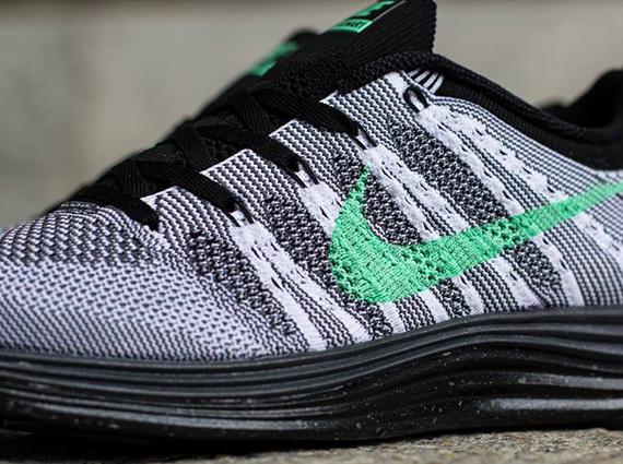 sports shoes 56854 bd764 Nike WMNS Flyknit Lunar1+ – White – Green Glow – Dark Grey – Black Men Nike  Flyknit Lunar 1 ...