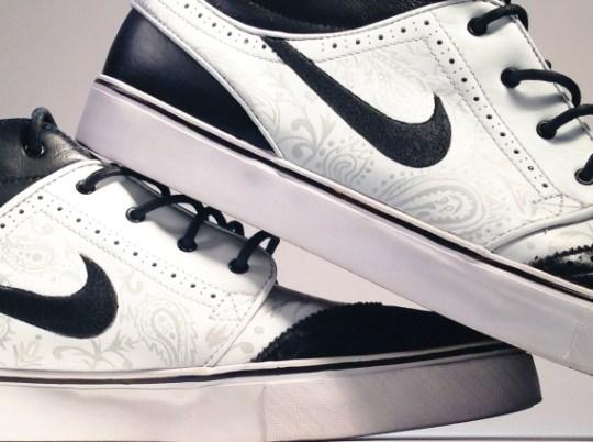 "Nike SB Stefan Janoski Mid ""Tuxedo"" Customs by Smooth Tip"