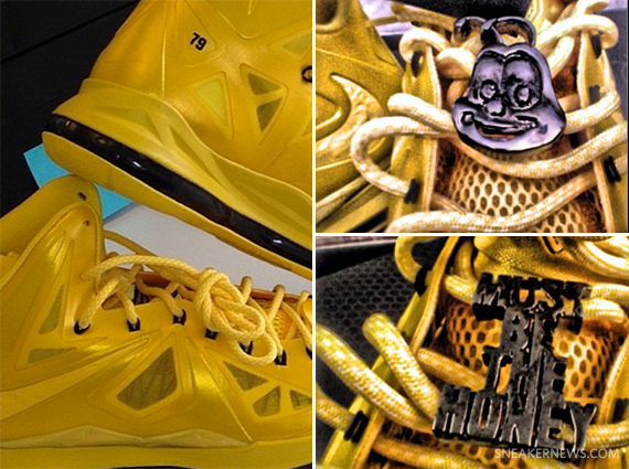 8df0e0a4aefb It looks like Nelly has teamed up with cereal maker General Mills to crank  out a NIKEiD version of the LeBron 10 as a tribute to their Honey Nut  Cheerios ...