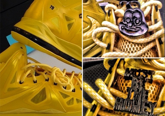 "Nelly x Honey Nut Cheerios NIKEiD LeBron X ""Must Be The Honey"""