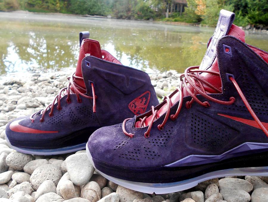 "17557eb508a8 Nike LeBron X EXT ""Plum"" Customs by Zadeh Kicks"