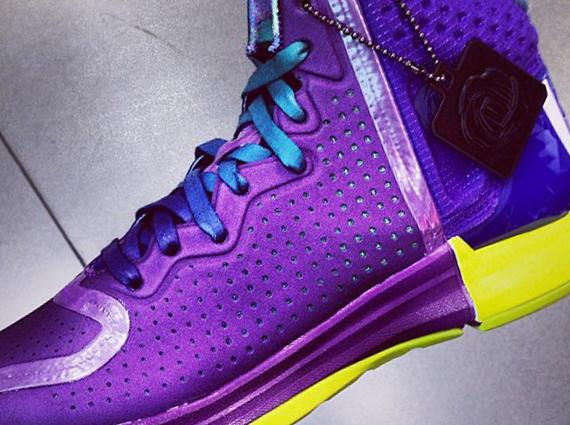 best cheap ab829 e2842 adidas D Rose 4 - Purple - Teal - Yellow - SneakerNews.com