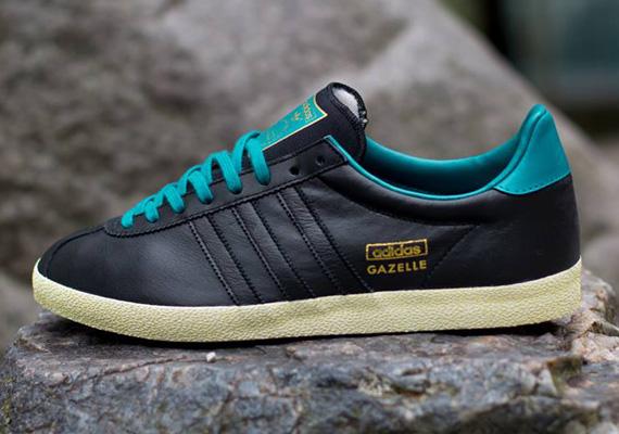 adidas originals gazelle trainers black