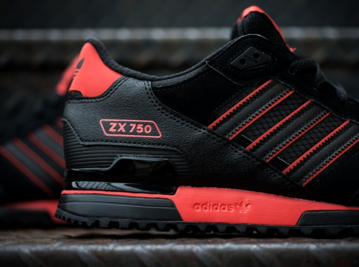 wholesale dealer 31203 ed117 adidas Originals ZX 750 - Black - Red - SneakerNews.com