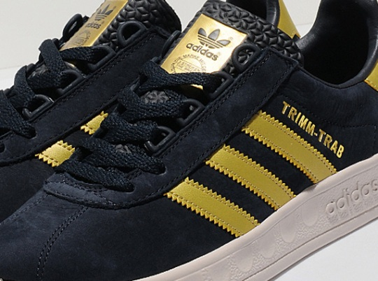adidas Originals Trimm Trab – Ink – Gold