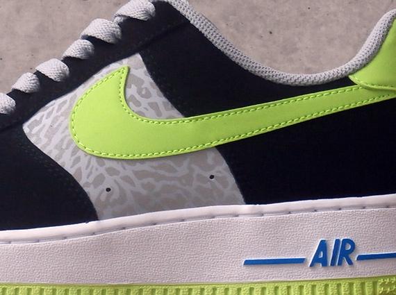 Nike Air Air Air Force 1 Bajos Reflejan Silver Negro Volt 10d1e4