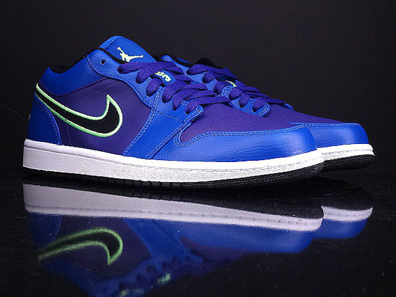 Air Jordan 1 Low - Game Royal - Flash Lime - Court Purple - SneakerNews.com 171c9eacb
