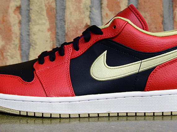 Air Jordan 1 Low - Gym Red - Game Royal - Black - Metallic Gold ... 5e789573e9