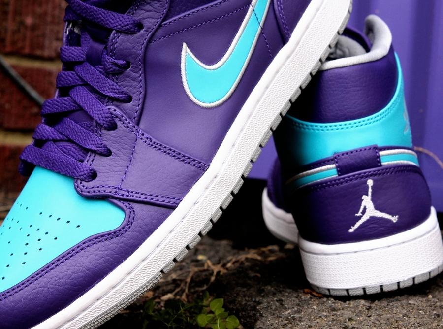 timeless design 9e264 3cc6b Air Jordan 1 Mid - Court Purple - Gamma Blue - SneakerNews.com
