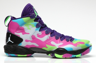 "87a7d5cd278d51 Color  Court Purple White-Flash Lime-Gamma Blue Style Code  616345-580.  Release Date  10 05 13. Price   140 More  Air Jordan XX8 SE ""Bel Air"""