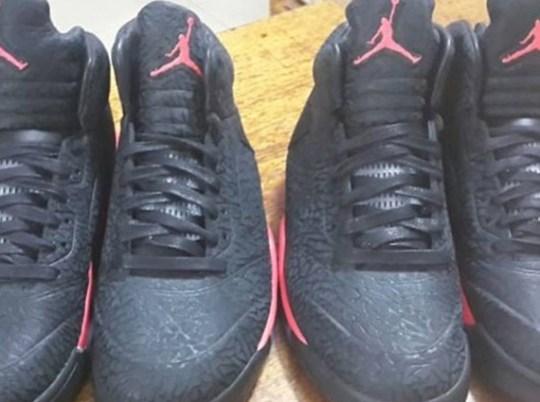 Air Jordan 5 3Lab5 – Black – Red