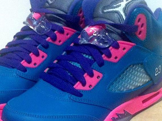 Purple And Teal Air Jordans Air Jordan 5 gs Teal Pink