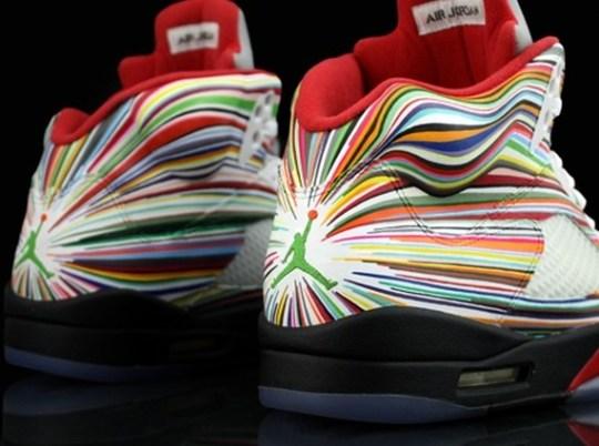 "Air Jordan 5 ""Rocket Science"" for Flo Rida by Revive Customs"