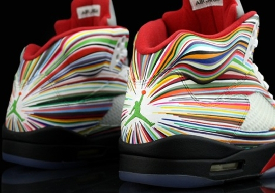 "Air Jordan 5 ""Rocket Science"" for Flo Rida by Revive Customs"