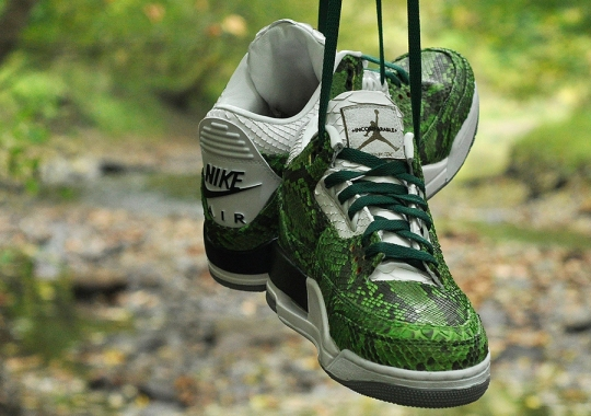 "Air Jordan 3 ""Green Python"" by JBF Customs"