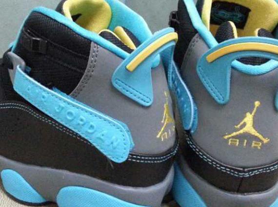 new concept c9182 ab35a Jordan 6 Rings GS – Black – Blue – Yellow