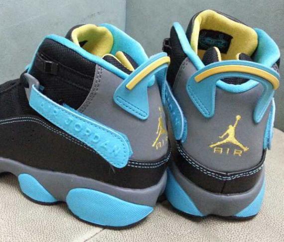 jordan 6 rings blue and yellow cheap online