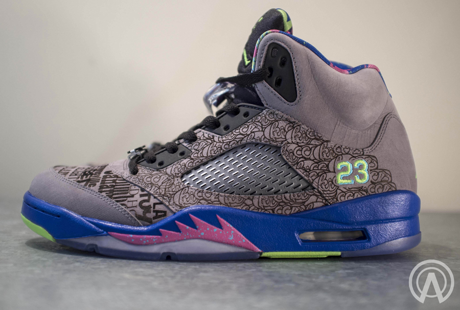 100% authentic 6d1db 86cc5 See the incredible lasered custom with us after the break and let us know  if you re feeling this Air Jordan 5 one-off remix from the lab of  Absolelute.