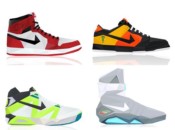 Nike Air Jordan Triangle Sneaker Art By Larry Luk