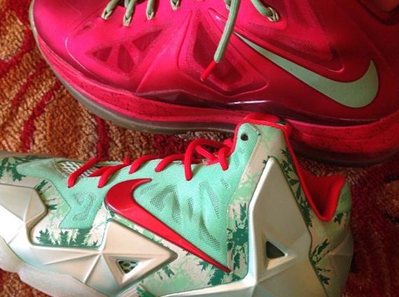 Lebron 11 Christmas Outfit Nike LeBron 10 ...
