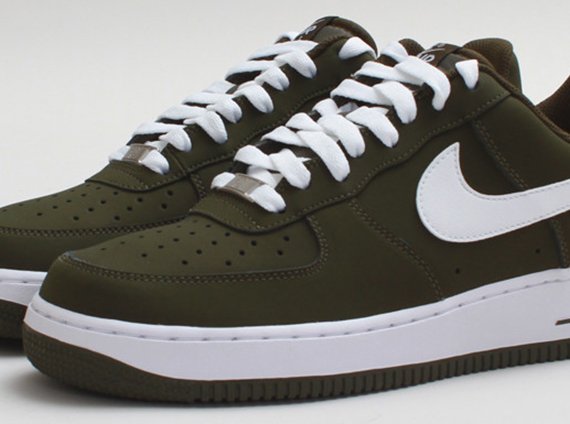 free shipping fdf8e 99eb6 Nike Air Force 1 Low – Dark Loden – White