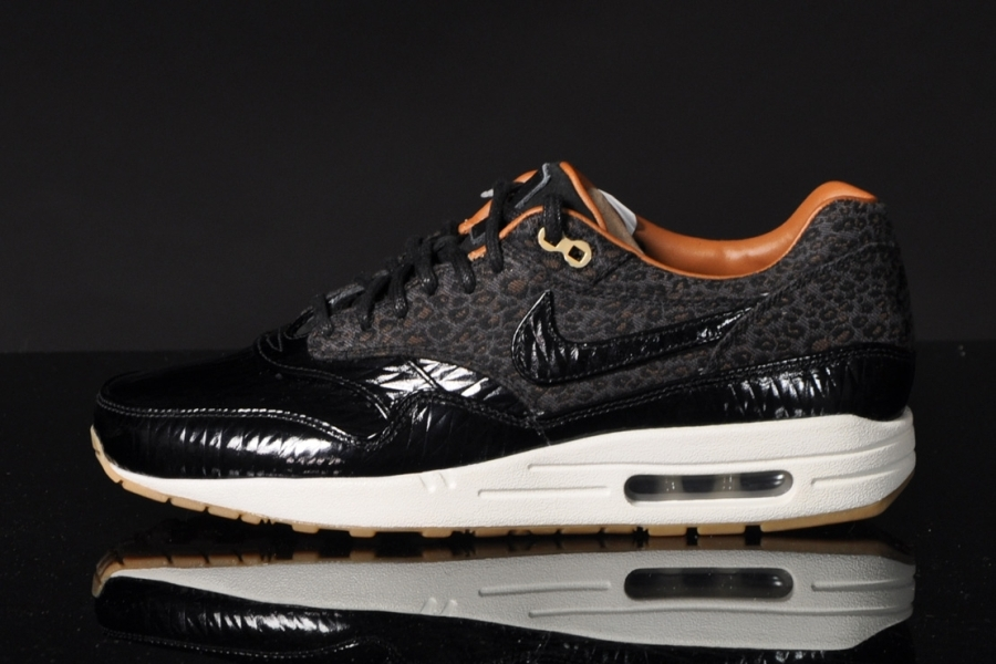 nike air max 1 fb leopard black patent leather