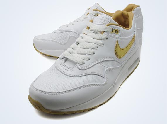 Nike Air Max 1 Fb Or Blanc